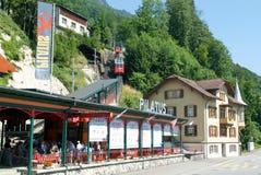 Stazione della valle del Pilatusbahn in Alpnachstad Fotografia Stock