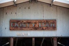 Stazione della valle del segno di Antivari della polvere a casa fotografia stock libera da diritti