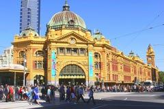 Stazione della via del Flinders a Melbourne Fotografia Stock Libera da Diritti