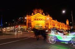 Stazione della via del Flinders - Melbourne Immagine Stock Libera da Diritti