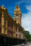 Stazione della via del Flinders, Melbourne, Australia Fotografie Stock Libere da Diritti
