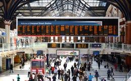 Stazione della via di Liverpool, Londra Fotografia Stock Libera da Diritti