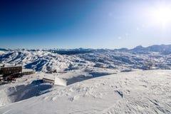 Stazione dello sci di inverno Immagine Stock Libera da Diritti