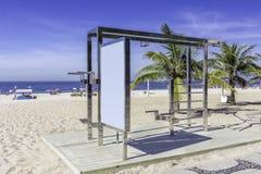 Stazione di allenamento sulla spiaggia di Ipanema, Rio de Janeiro Fotografia Stock
