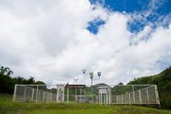 Stazione di bollettino meteorologico in Tailandia del Nord Fotografie Stock