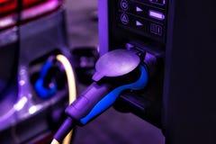 Stazione di carico dell'automobile elettrica nella celebrazione Florida Stati Uniti S fotografia stock libera da diritti