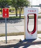 Stazione di carico di Tesla Immagine Stock