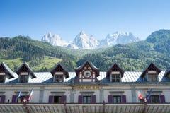 Stazione di Chamonix-Mont-Blanc Immagine Stock Libera da Diritti