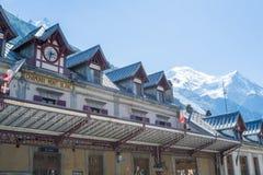 Stazione di Chamonix-Mont-Blanc Fotografia Stock