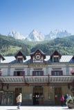 Stazione di Chamonix-Mont-Blanc Fotografie Stock Libere da Diritti