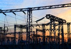 Stazione di corrente elettrica Fotografie Stock Libere da Diritti