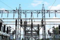 Stazione di corrente elettrica Immagine Stock Libera da Diritti