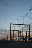 Stazione di corrente elettrica Fotografia Stock Libera da Diritti