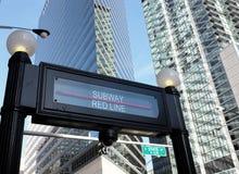 Stazione di cta di Chicago Fotografie Stock Libere da Diritti
