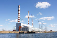 Stazione di energia Fotografia Stock