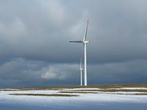 Stazione di energia eolica Fotografie Stock