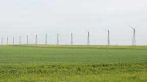 Stazione di energia eolica Fotografia Stock