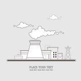 Stazione di energia La centrale atomica sui precedenti del Immagine Stock