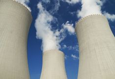 Stazione di energia nucleare immagine stock libera da diritti