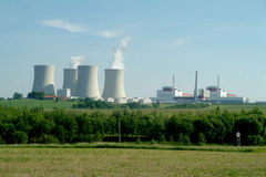 Stazione di energia nucleare Fotografia Stock Libera da Diritti