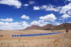 Stazione di energia solare Fotografie Stock Libere da Diritti