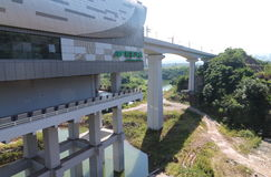 Stazione di ferrovia ad alta velocità Fotografia Stock