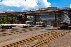 Stazione di ferrovia del trasporto fotografia stock libera da diritti