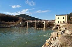 Stazione di forza idroelettrica Immagine Stock