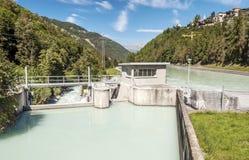 Stazione di forza idroelettrica Immagini Stock