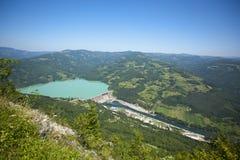 Stazione di forza idroelettrica, diga di Perucac Fotografie Stock