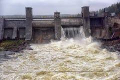Stazione di forza idroelettrica in Imatra immagini stock