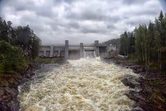 Stazione di forza idroelettrica in Imatra fotografia stock libera da diritti