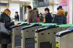 Stazione di Gangnam Fotografia Stock