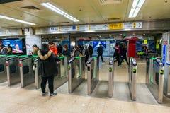 Stazione di Gangnam Fotografia Stock Libera da Diritti