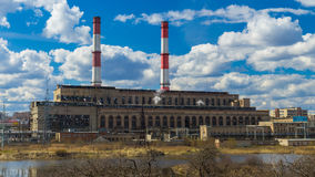 Stazione di generazione elettrica Immagini Stock Libere da Diritti