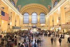 Stazione di Grand Central, con le decorazioni di Natale immagine stock