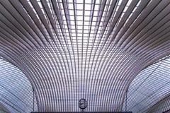 Stazione di Guillemins, Liegi, Belgio Fotografia Stock Libera da Diritti
