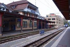 Stazione di Interlaken Fotografia Stock Libera da Diritti