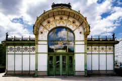 Stazione di Karlsplatz Stadtbahn a Vienna Fotografia Stock