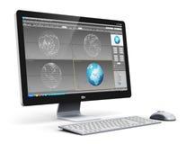 Stazione di lavoro professionale del desktop computer Fotografia Stock Libera da Diritti