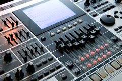 Stazione di lavoro professionale di musica Immagine Stock