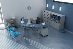 Stazione di lavoro in ufficio moderno Fotografie Stock Libere da Diritti