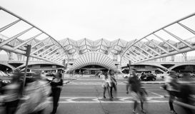 Stazione 2 di Lisbona Oriente Fotografia Stock