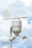 Stazione di meteorologia dell'anemometro fotografia stock