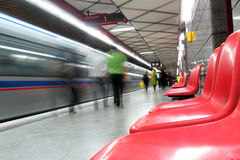 Stazione di metro fotografia stock
