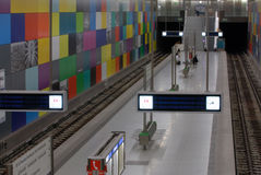 Stazione di metro del mosaico Immagine Stock