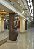 Stazione di metro del museo a Toronto Immagini Stock Libere da Diritti