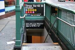 Stazione di metro di New York Immagini Stock Libere da Diritti