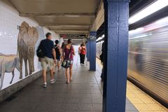 Stazione di metro di New York Immagine Stock Libera da Diritti