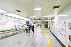Stazione di metro di Tsukijishijo Fotografie Stock Libere da Diritti